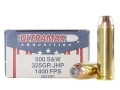 Product detail of Ultramax Ammunition 500 S&W Magnum 325 Grain Jacketed Hollow Point Box of 20