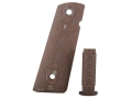 Hogue Extreme Series Magrip Kit 1911 Government, Commander Checkered with Flat Mainspring Housing G-10 G-Mascus Tan