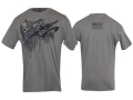 VTAC Skull Short Sleeve T-Shirt XL Cotton Gray