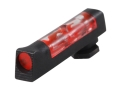 "HIVIZ Tactical Front Sight Glock All Models (Except Compensated) .162"" Height Steel .120"" Large Diameter Fiber Optic Red"