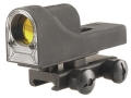Trijicon Advanced Combat Reflex RX06-14 Sight 12.5 MOA Dual-Illuminated Amber Triangle Matte with Flat-Top Mount Matte