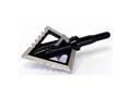 Magnus Black Hornet Ser-Razor 4-Blade Fixed Blade Broadhead Stainless Steel Pack of 3