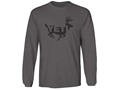 YETI The 170 T-Shirt Long Sleeve Cotton Charcoal Gray