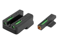 "TRUGLO TFX Pro Sight Set 1911 Novak Cut .260"" Height Front .450"" Height Rear Tritium / Fiber Optic Green with Orange Front Dot Outline"