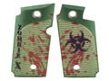 Product detail of Hogue Grips Sig Sauer P238 Checkered Aluminum Zombie Green