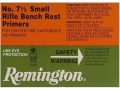 Remington Small Rifle Bench Rest Primers #7-1/2 Case of 5000 (5 Boxes of 1000)