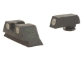 Meprolight Tru-Dot Sight Set Glock 20, 21, 29, 30, 36 Steel Blue Tritium Green Front