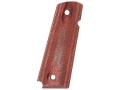 Hogue Grips 1911 Government, Commander Checkered Rosewood Laminate