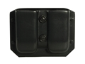 Galco Kydex Double Magazine Pouch 40 S&W, 9mm Double Stack Metal Magazines Black