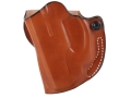 Product detail of DeSantis Mini Scabbard Outside the Waistband Holster Left Hand Ruger LC9 Crimson Trace LG412 Laser Leather Tan