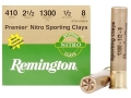 "Product detail of Remington Premier Nitro Gold Sporting Clays Ammunition 410 Bore 2-1/2"" 1/2 oz #8 Shot"