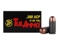 TulAmmo Ammunition 380 ACP 91 Grain Full Metal Jacket (Bi-Metal) Steel Case Berdan Primed Box of 50