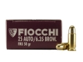 Product detail of Fiocchi Shooting Dynamics Ammunition 25 ACP 50 Grain Full Metal Jacket Box of 50