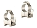 "Warne 1"" Maxima Quick-Detachable Weaver-Style Rings Silver High"