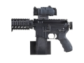 Plastix Plus AR-15 Horizontal Wall Mount Plastic Black
