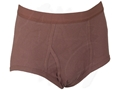 Military Surplus Mens Cotton Briefs 3 Pack Brown