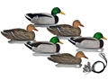 Hard Core Pre-Rigged Mallard Duck Decoy Pack of 6