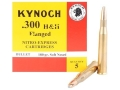 Product detail of Kynoch Ammunition 300 Flanged Magnum 180 Grain Woodleigh Welded Core Soft Point Box of 5