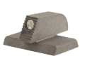 "Kensight Front Night Sight 1911 Novak Cut Flat Base .190"" Height .115"" Width Steel Black with Green Tritium Dot"