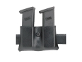 Safariland 079 Double Magazine Pouch 2-1/4&quot; Snap-On Glock 20, 21, HK USP 40, 45, STI, McCormick/Tripp, Para-Ordnance P-14 Polymer Black