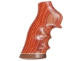 Hogue Fancy Hardwood Grips with Accent Stripe, Finger Grooves and Contrasting Butt Cap Ruger GP100, Super Redhawk Tulipwood