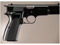 Hogue Extreme Series Grip Browning Hi-Power Checkered Brushed Aluminum Gloss