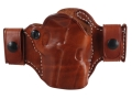El Paso Saddlery Snap Off Compact Thumb Break Outside the Waistband Holster Right Hand 1911 Leather Russet Brown