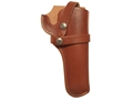 "Hunter 1100 Snap-Off Belt Holster Right Hand 4-3/4"" Barrel Colt Single Action Army, Ruger Blackhawk, Vaquero Leather Brown"