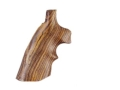 Hogue Fancy Hardwood Grips with Top Finger Groove Ruger Speed Six Cocobolo