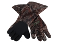 Tanglefree Gauntlet Gloves Neoprene Mossy Oak Duck Blind Camo