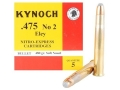 Kynoch Ammunition 475 Number2 Nitro Express Eley 480 Grain Woodleigh Welded Core Soft Point Box of 5