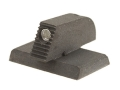 Kensight Front Night Sight 1911 Novak Cut Flat Base .200&quot; Height .115&quot; Width Steel Black with Green Tritium Dot