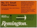 Product detail of Remington Small Magnum Pistol Primers #5-1/2