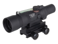 Trijicon ACOG TA33 BAC Rifle Scope 3x 30mm Dual-Illuminated Green Horseshoe Dot 223 Remington Reticle with TA60 Flattop Mount Matte