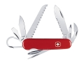 Wenger Swiss Army Zermatt Folding Knife 14 Function Swiss Surgical Steel Blades Polymer Scales Red