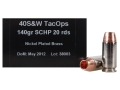 PNW Arms TacOps Ammunition 40 S&W 140 Grain Solid Copper Hollow Point Lead-Free Box of 20