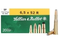 Sellier &amp; Bellot Ammunition 6.5x52mm Rimmed (25-35 WCF) 117 Grain Soft Point Box of 20