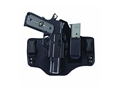 Galco KingTuk 2 Tuckable Inside the Waistband Holster 1911 Government, Commander Leather and Kydex Black