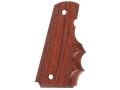 Hogue Grips with Finger Grooves 1911 Government, Commander Checkered Cocobolo