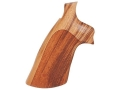 Hogue Fancy Hardwood Conversion Grips S&W N-Frame Round to Square Butt Checkered Goncalo Alves