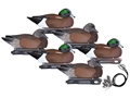 Hard Core Pre-Rigged Wigeon Duck Decoy Pack of 6