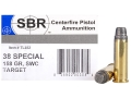 SBR Target Ammunition 38 Special 158 Grain Semi-Wadcutter Box of 50