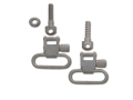 "GrovTec Sling Swivel Studs with 1"" Locking Swivels Set with Machine Screw Forend Satin Nickel Plated"