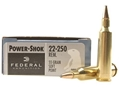 Federal Power-Shok Ammunition 22-250 Remington 55 Grain Soft Point Box of 20