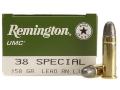 Remington UMC Ammunition 38 Special 158 Grain Lead Round Nose