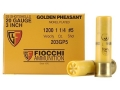 Fiocchi Golden Pheasant Ammunition 20 Gauge 3&quot; 1-1/4 oz #5 Nickel Plated Shot Box of 25