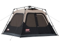 Coleman Instant 4 Man Cabin Tent 96&quot; x 84&quot; x 59&quot; Polyester Black and Tan