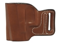 DeSantis L-Gat Slide Outside the Waistband Holster Left Handed Glock 17, 22, 23, 26, 27 Leather Tan