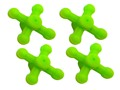 Bowjax UltraJax II Bow String Silencer Rubber Fluorescent Green Pack of 4
