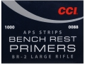 CCI Large Rifle APS Bench Rest Primers Strip #BR2 Case of 5000 (5 Boxes of 1000)